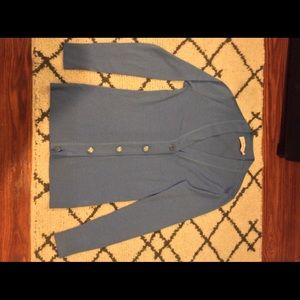 Tory Burch light blue cardigan